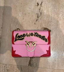 PINKO roze torbica ,nova