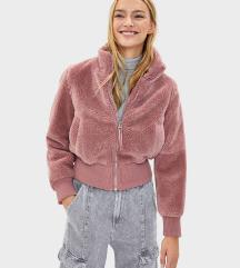 Bershka roza teddy jaknica