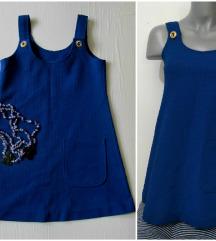 Vintage zvonasta haljina/tunika na tregere XXS