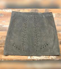 Siva Zarina kožna suknja 🔘