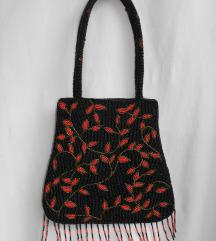 Vintage torbica od staklenih mikro perli