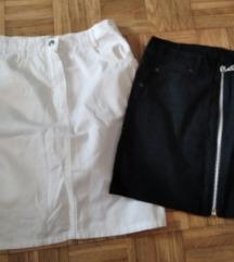 Dve teksas suknjice za napisanu cenu