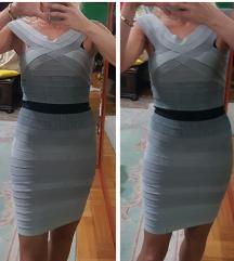 HERVE LEGER siva haljina snizz