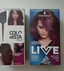 Ljubicasta farba za kosu NOVO :)