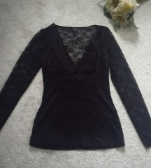 ♫ ♪ ♫ GUESS čipkana crna bluza NOVO