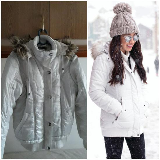 Bela zimska topla jakna S A L E