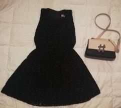 Crna leopard haljina  Svecana