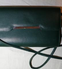Tamnozelena kožna pismo torba