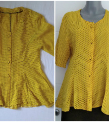 Vintage peplum autenticna tufnasta bluza  L/M