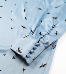 ❤️ H&M * M * Plava haljina sa pticama