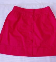 Amisu  crvena suknja S-M