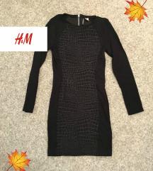 Haljina H&M crna kroko S