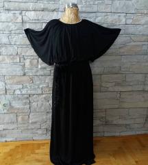 haljina crna sa zlatnim kajisem