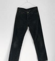 Levis crne somot pantalone [VINTAGE]