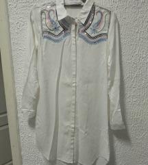 Potpuno nova bela kosulja haljina M-L