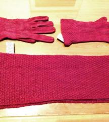 Calvin Klein komplet šal rukavice kapa ORIGINAL