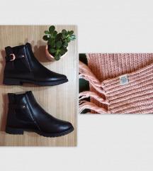 Plitke cizme + POKLON H&M sal, kao NOVO!