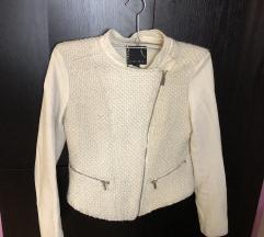 Kozna jakna bela  38 amisu