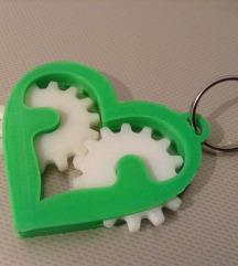 Privezak za ključeve Srce