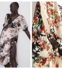 Zara ruffle floral print haljina✨NOVO