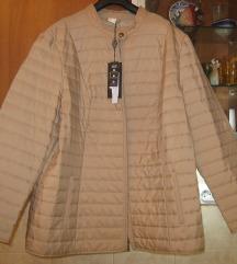 Bež, moderna, štepana jakna 48-NOVO SA ETIKETOM