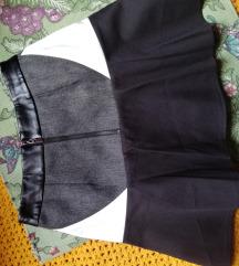 Nova crno belo siva suknja