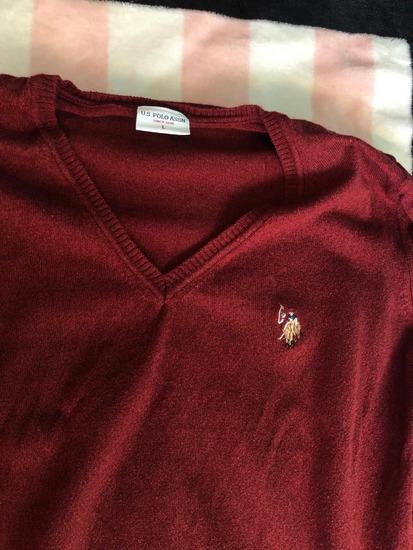 Original bordo US POLO džemper - novo