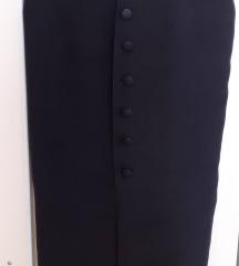 Midi pencil suknja, crna, svila, kao nova