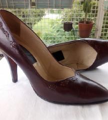 Vintage braon kožne cipele, br. 39