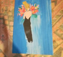 Devojka sa buketom cveća