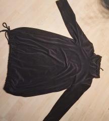 Duks haljina crni pliš 46