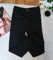 LC Waikiki crne pantalone visok (dubok) struk XS/S