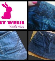 Tally Weijl suknjica sa koznim detaljima