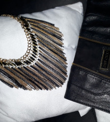 Fenomenalna crno zlatna ogrlica SNIZENA