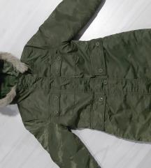 Maslinasta duza jakna vel. 128 - kao nova