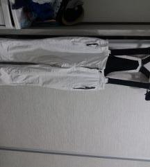 Bele ski pantalone