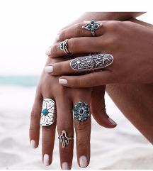 set prstenja tibetansko srebro 1000 din
