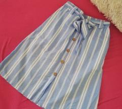 Letnja prugasta suknja