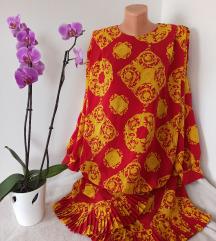 Fantasticna haljina sa upadljivim dezenom vel L
