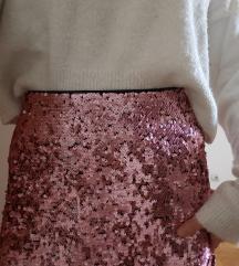SNIŽENO 2500 RSD Pink HM suknja sa šljokicama