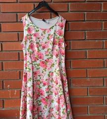 Cvetna pamučna haljina