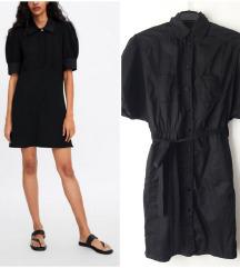 *SALE* Zara safari crna haljina
