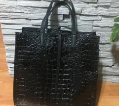 Crna kroko torba NOVA