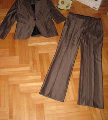 ZARA WOMAN svileno/vuneno odelo SAKO/PANTALONE