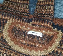 ZARA Knit L crop dzemper