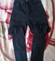 Crne uzane pantalone