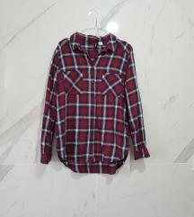 H&M bordo-teget karirana košulja