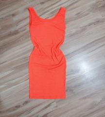 Nova pamucna narandzasta haljina