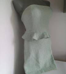 Zara rezedo top haljina S