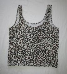 Crop top leopard bez rukava